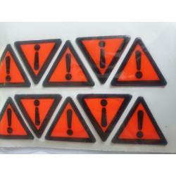 Lot de 10 Stickers triangle...